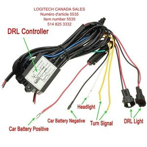Car DRL Controller Switch Relay Harness Daytime Running Light Di