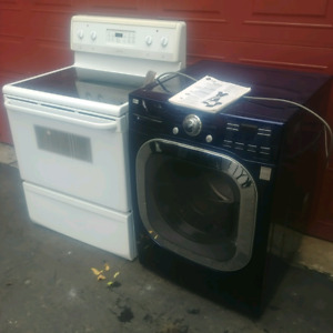 LG WASHER STEAMER, FRIGIDAIRE self cleaning