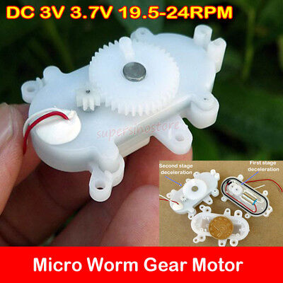Micro 612 Coreless Worm Gear Motor Dc 3v 3.7v 24rpm Slow Speed Diy Robot Toy