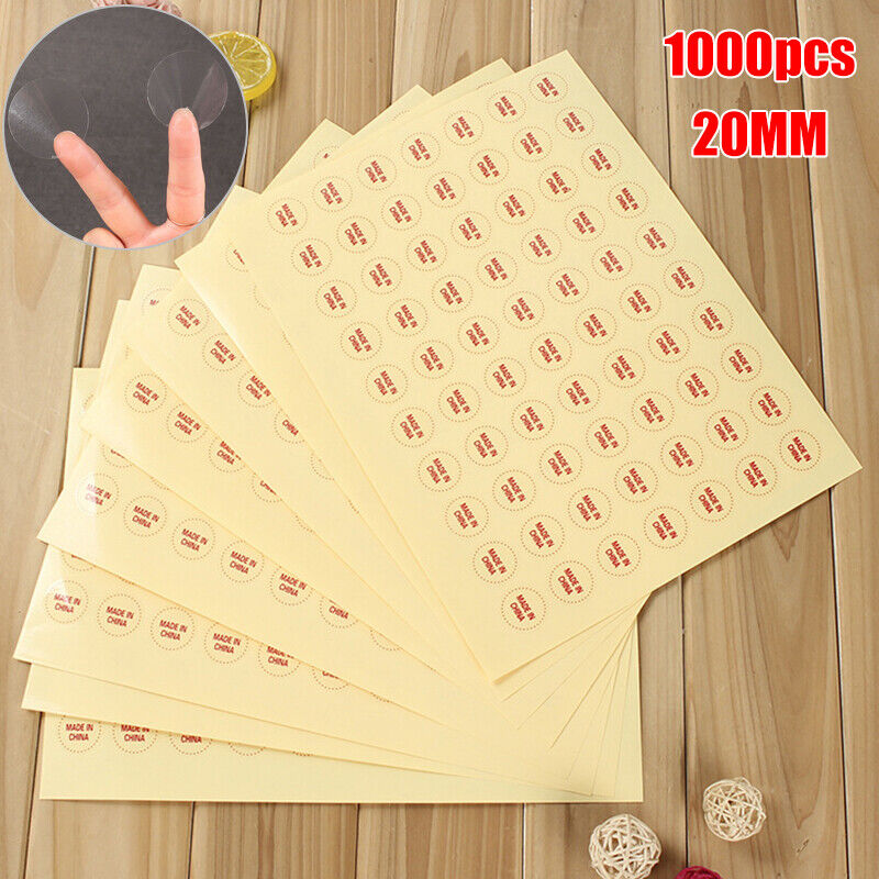 1000 20MM clear round sticker round transparent labels circle PVC Sealing lF CH