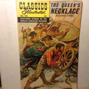CLASSICS ILLUSTRATED #165 HRN 164-QUEENS NECKLACE-1ST E FN