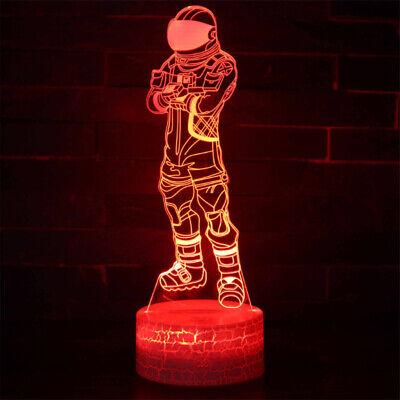 LED Night Light 7 Color 3D Lamp USB Touch Table Desk Lamp Kid Gift Nite UK