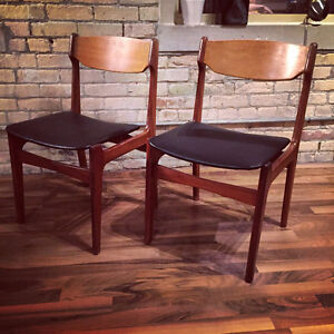 Mid Century Modern Teak dining chairs (4) – refinished