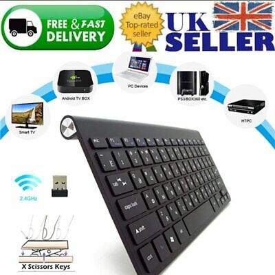 Slim Wireless Bluetooth Keyboard For Mac iPad Android Phone Tablet PC Waterproof
