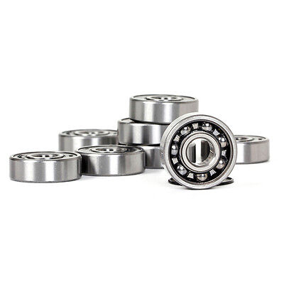 8* Skateboard Bearings ABEC 9 for Fidget Spinner Replacement Chrome Steel Black