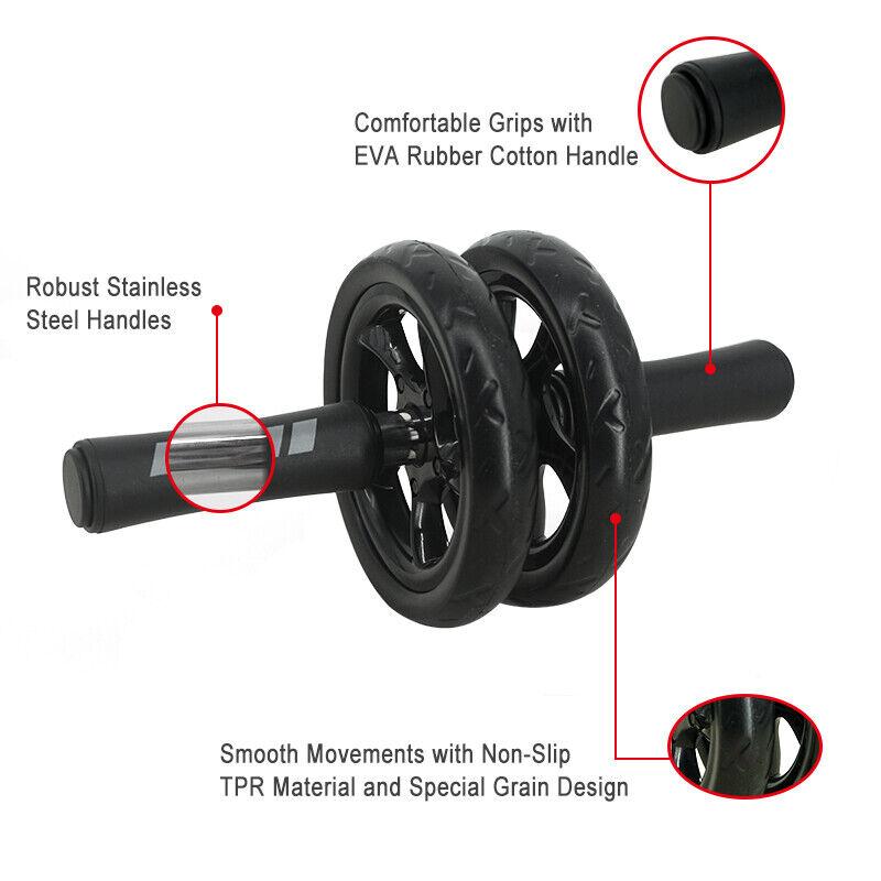 Abdominal Wheel Ab Roller For Arm Waist Leg Exercise Gym Fitness Equipment 1