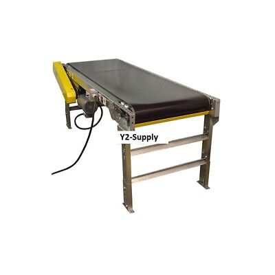New Omni Metalcraft Powered 24w X 30l Belt Conveyor With 6h Side Rails
