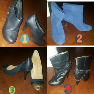 """Madden girl black booties  """"worn once"""" """"text only"""" thank you :)"""