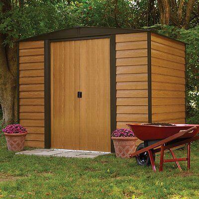 Outdoor Storage Shed Steel Utility Tool Backyard Garden Building Lawn 6 x 5 New