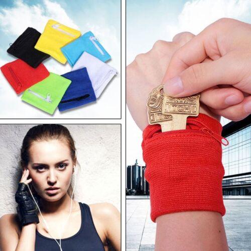 Wrist Wallet Pouch Band Zipper Running Travel Gym Cycling Sa