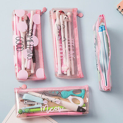 Cartoon Animal Pencil Pen Case Makeup Cosmetic Pouch Bag Zipper Purse - Animal Pencil Case