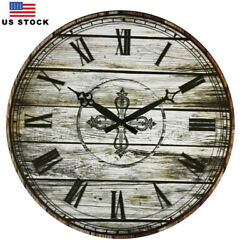 15 Large Wooden Wall Clocks Home Room Decor Retro Vintage European Style