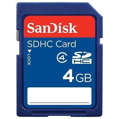 100x SanDisk 4GB SDSDB-4096 Standard Secure Digital Memory Card Blue SD Genuine ()