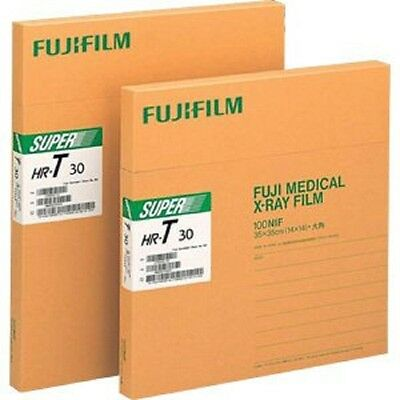 Hru 1417 Fuji Green X-ray Film 14 X 17 Box Of 100 Sheets Green Speed..