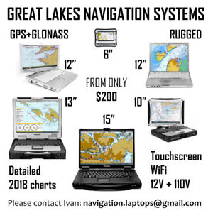 Marine Navigation + Chartplotter systems with GREAT LAKES charts