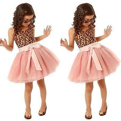 Princess Kids Baby Girl Leopard Tutu Dress Party Pageant Birthday Dress - Leopard Girl