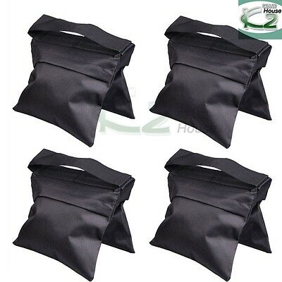 Stand Sandbags (4x Black Weight Sandbags Counter Balance Sand Bag for Photo Studio Light)