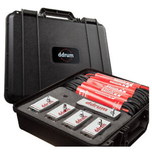 Ddrum Elite Trigger Pack, includes XLR cables and case