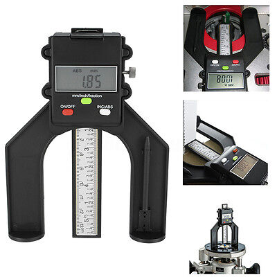 80mm Digital Gauge Magnetic Feet LCD Height Calipers For Woodworking Measuring