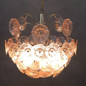 Pink Glass Chandelier