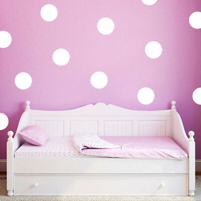 Fashion Polka Dot Wall Stickers Wall Decal Circle Theme Home Decor Children DIY (Home Decor Themes)