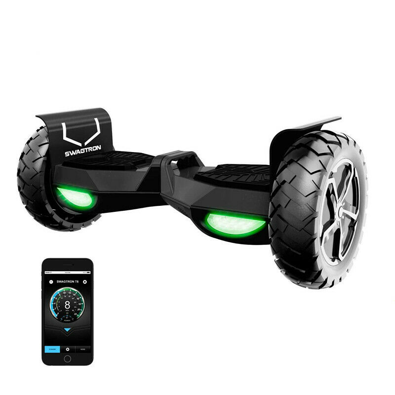 Swagtron T6 Adults Bluetooth Hoverboard Off-Road Electric Se
