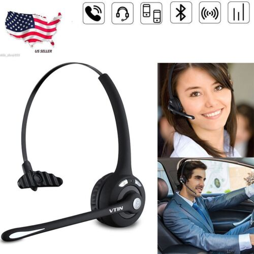 Mpow Pro Trucker Driver Over the Head Bluetooth Headset Head