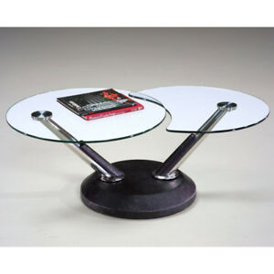 Modern Swivel Glass Coffee Table