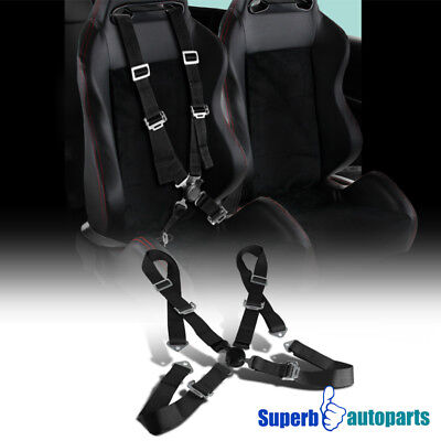 1x 4 Point Camlock Racing Sealt Belts Safety Harness 4PT Black, used for sale  Shipping to Canada