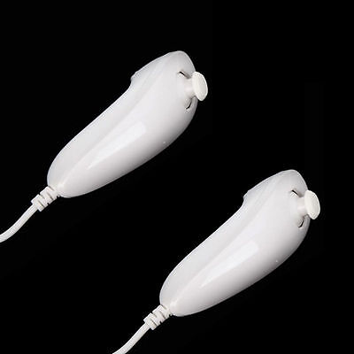 Lot 2 Nunchuck Controller for Nintendo WII Video Game White