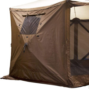 Clam Quick-Set Shelter Wind Panels with Windows, 3 Pack, Brown