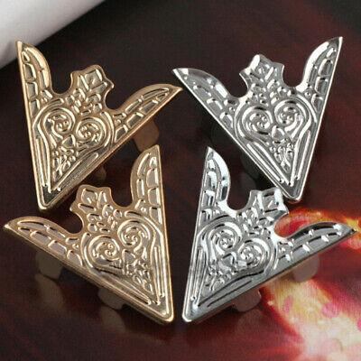 2 Pairs Antiqued Punk Metallic Blouse Shirt Metal Collar Clips Wing Tips jki