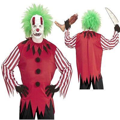 Horror Clown Kostüm mit Maske - Herren Karneval Fasching Halloween Gr. 50 52 -