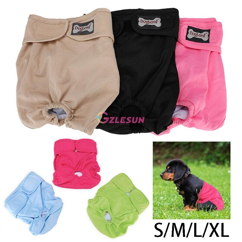 3x Washable Dog Diaper Female Pet Pant Reusable Leak Proof Puppy Doggie Diapers