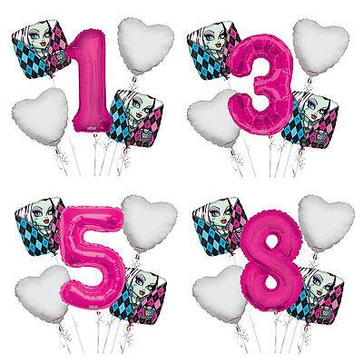 Monster High Balloons (Monster High Birthday 1-9 Balloon Bouquet 5 pcs Girls Birthday)