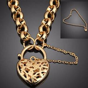Mother's Day Gift - 18K GF Necklace & Bracelet Heart Padlock Newcastle Newcastle Area Preview