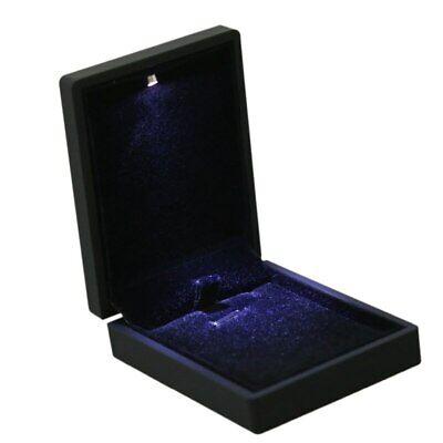 Luz LED Joya Estuche Joyero Colgante Collar Cadena Cajón Almacenamiento Joyas