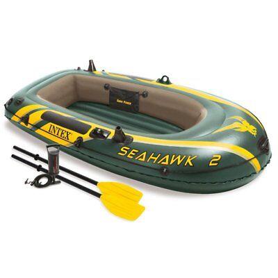Ruderboot Paddelboot Schlauchboot SEAHAWK 2  bis 200 kg + Paddel und Luftpumpe