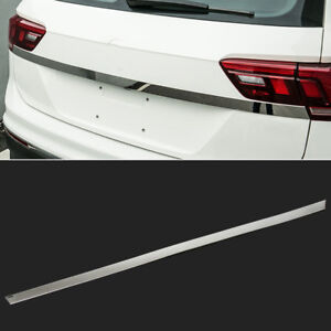 FIT FOR VW TIGUAN 2018- CHROME REAR TRUNK BOOT TAIL GATE LIGHT COVER TRIM BEZEL