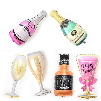 Champagne Bottle Glass Foil Balloons Happy Birthday Wedding Party Decor Supplies (Champagne Balloons)