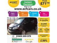 2016 BLACK FORD TRANSIT CUSTOM 2.2 TDCI 155 LTD 290 SPORT CAR FINANCE FR £71 PW
