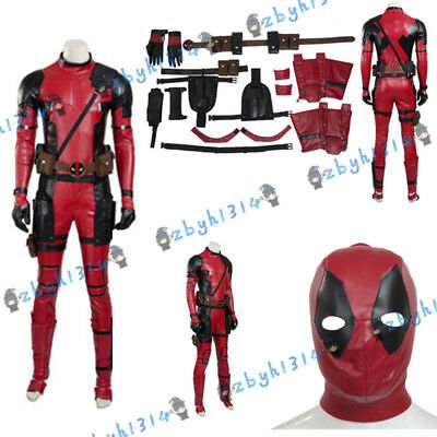 New Style High Quality Deadpool Cosplay Costume Full Suit Accessories Mask ZBYH