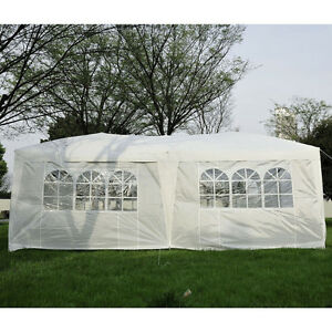 10x20ft Pop Up Canopy Tent Patio Gazebo Wedding Party Shelter w/