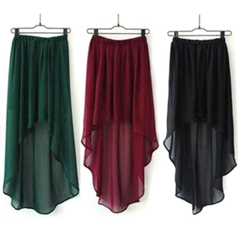Asymmetric Long Maxi Skirt Ebay