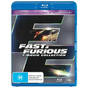 Fast and Furious: Complete 7 Movie Collection in Blu-Ray