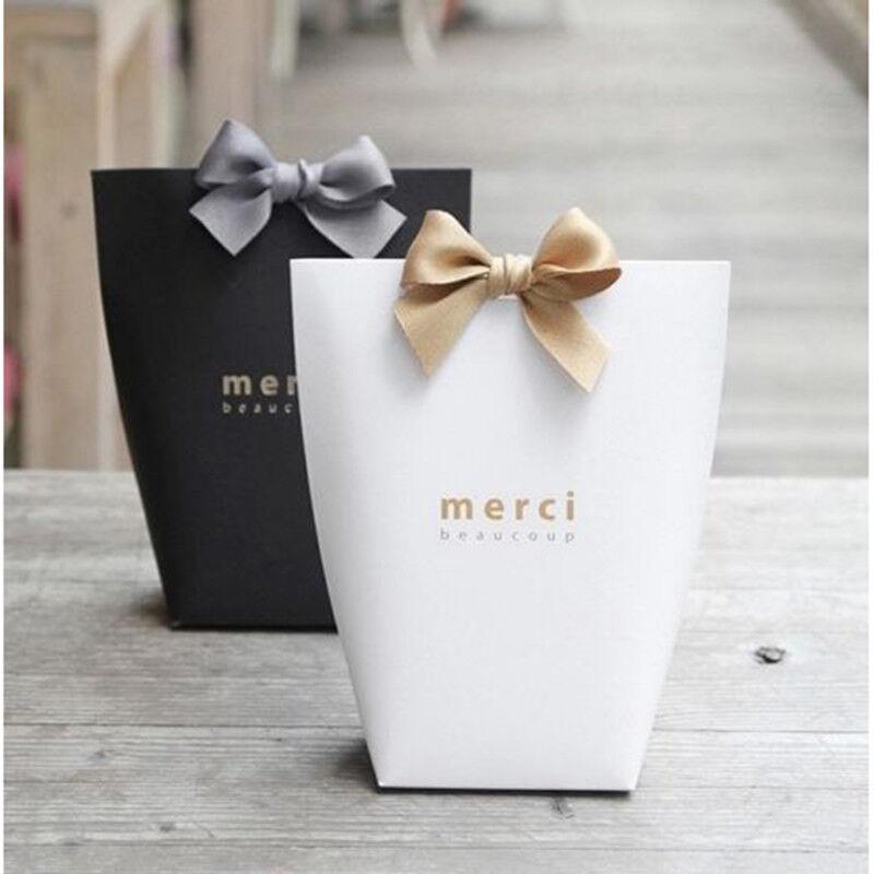 5pcs Merci Beaucoup Elegant Party Paper Wedding Favor Gift Sweets