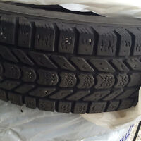 Six (6) winter tires for a cube van size 225/75 R17
