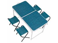 Camping/Hiking Table Ffor 4 persons with 4 seats Blue