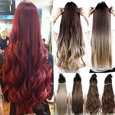 Ombre Clip In hair Extensions Haarverlängerung Ein Tressen DE Haare Dip Dye Rote ()