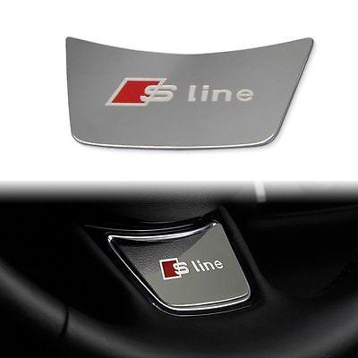 AUDI Sline Steering Wheel Aluminum Style S Line 1x Sticker Badge Decals